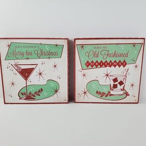 Have Yourself  A Merry Tini Christmas Retro Decor